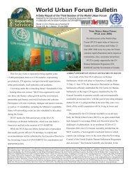 World Urban Forum Bulletin - Linkages