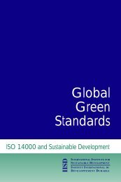 Global Green Standards - International Institute for Sustainable ...