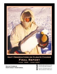 Inuit Observations on Climate Change: Final Report - International ...