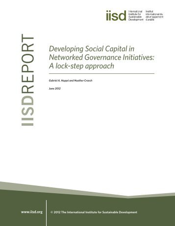 Developing Social Capital in Networked Governance Initiatives: A ...