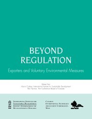 Beyond Regulation - International Institute for Sustainable ...