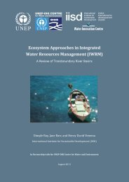 Ecosystem Approaches in Integrated Water Resources ... - NANBO