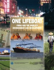 One Lifeboat: China and The World's Environment and Development