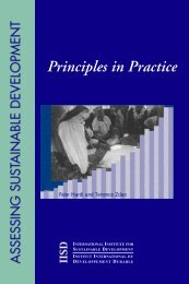 Principles in Practice - International Institute for Sustainable ...