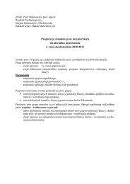 prof. dr hab. Piotr Malinowski - Instytut Informatyki i Mechatroniki