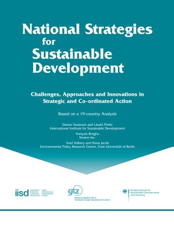 National Strategies for Sustainable Development: Challenges ...