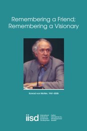 Remembering a Visionary - International Institute for Sustainable ...