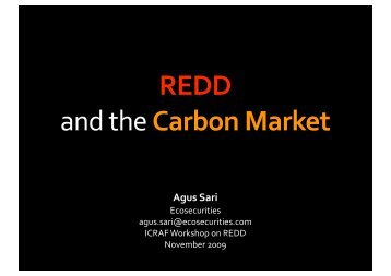 Links to the Carbon Market, CDM and NAMAs - International Institute ...