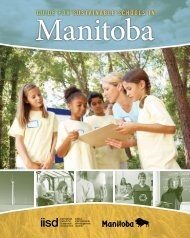 Guide for Sustainable Schools in Manitoba - International Institute ...