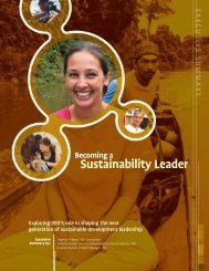 Becoming a Sustainability Leader - International Institute for ...