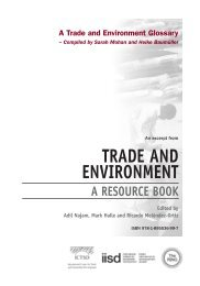 A Trade and Environment Glossary - International Institute for ...