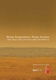 Climate change and the risk of violent conflict in the Middle East