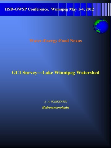 GCI Survey: Lake Winnipeg Watershed