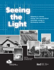 Seeing the Light - International Institute for Sustainable Development