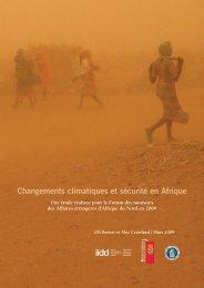 Changements climatiques et sécurité en Afrique - International ...