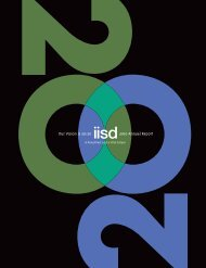 A Proud Past and a Vital Future: IISD 2010 Annual Report