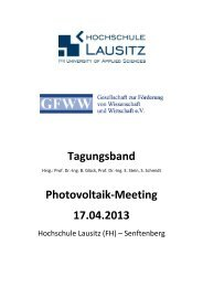 Tagungsband Photovoltaik-Meeting 17.04.2013
