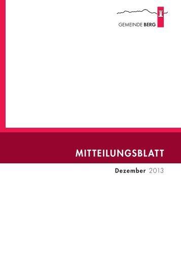 Dezember 2013 [PDF, 7.00 MB] - Gemeinde Berg