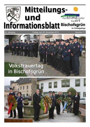 Volkstrauertag in Bischofsgrün