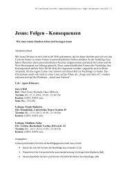 Jesus: Folgen - Konsequenzen - Kath.de