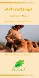 Naturerlebniskalender 2014 - Naturpark Stromberg-Heuchelberg