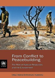 From Conflict to Peacebuilding - Disasters and Conflicts - UNEP
