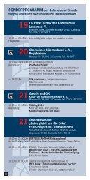 Sonderprogramm der Galerien und Einrichtungen zur ... - Chemnitz