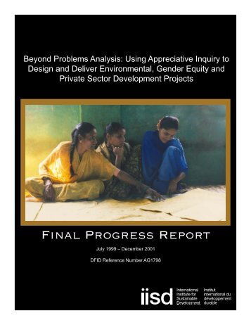 Beyond Problems Analysis - International Institute for Sustainable ...