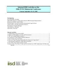 IISD Activities in Cancun - International Institute for Sustainable ...
