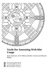 Tools for Assessing Web Site Usage - International Institute for ...