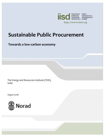 Sustainable Public Procurement: Towards a low‐carbon economy