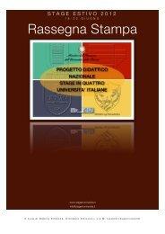Rassegna Stampa - Progetto Didattico Nazionale