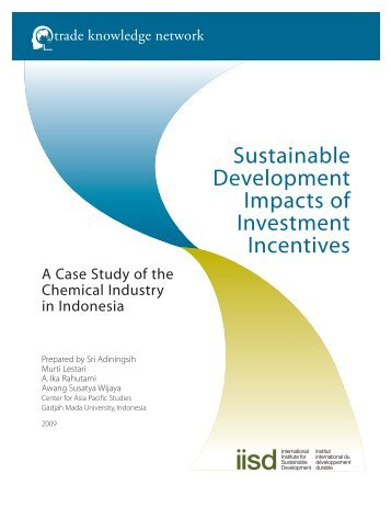 Sustainable Development Impacts of Investment Incentives: A Case ...