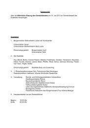 Niederschrift über die öffentliche Sitzung des ... - Bad Säckingen