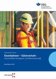 Eisenbahnen – Güterverkehr (PDF, 695KB, ) - VBG
