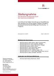 Stellungnahme - Deutscher Anwaltverein