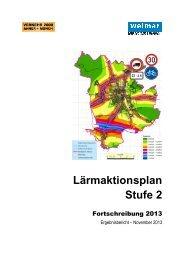 Lärmaktionsplan - Stufe 2 Fortschreibung 2013 - Stadt Weimar