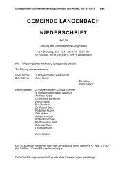 Gemeinderatssitzung vom 19.11.2013 - Langenbach
