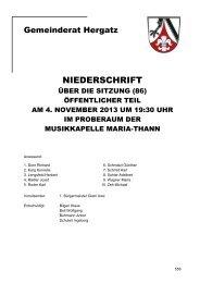 Protokoll der Sitzung Nr. 86 vom 04.11.2103 - Gemeinde Hergatz