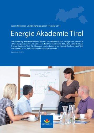 Energie Akademie Tirol - Energie Tirol