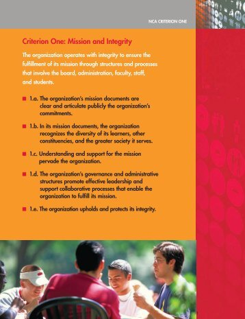 Criterion one: Mission and integrity - Illinois Institute of Technology