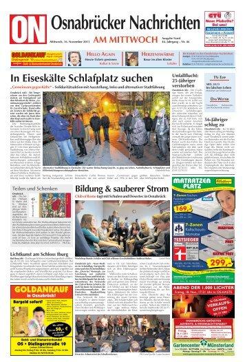 In Eiseskälte Schlafplatz suchen - epaper - Osnabrücker Nachrichten