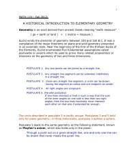 A HISTORICAL INTRODUCTION TO ELEMENTARY GEOMETRY