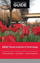 University Parent Guide - Illinois Institute of Technology