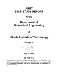 ABET SELF-STUDY REPORT Department of Biomedical Engineering