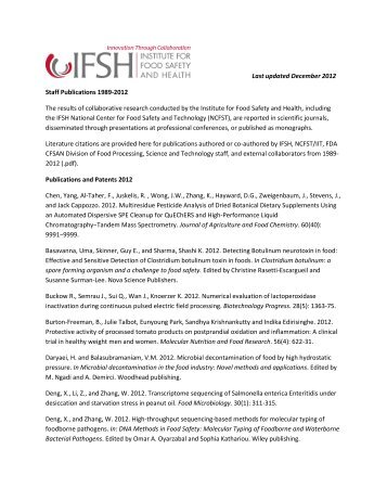 Last updated December 2012 Staff Publications 1989-2012 The ...