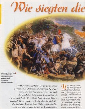 Taktik – wie siegten die Germanen - deutschelobby