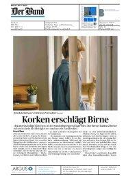 Korken erschlägt Birne - Hochschule der Künste Bern