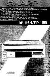 RP-116H/E Operation-Manual GB DE FR SE IT