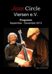 JazzCircle Viersen e.V. September – Dezember 2005 - Ali Haurand